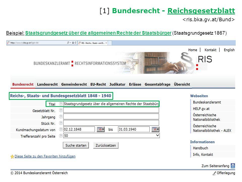 [1] Bundesrecht - Reichsgesetzblatt <ris.bka.gv.at/Bund>